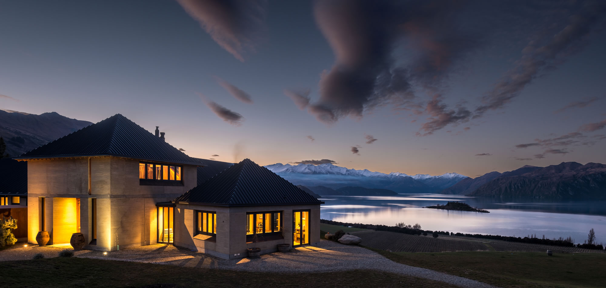 The Rippon Hall by Night - Venue Wanaka