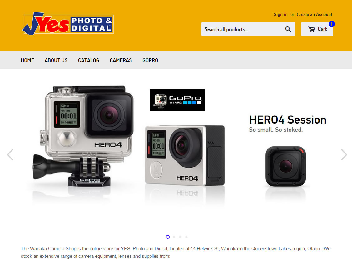 E-Commerce Website – Yes Photo & Digital