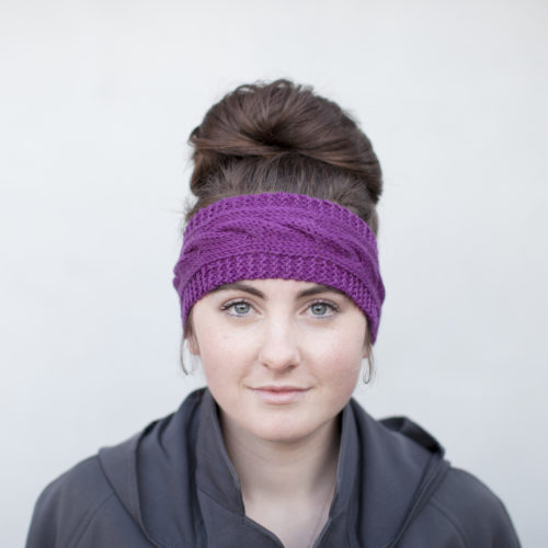 Knitted Headband photographed for The Woven