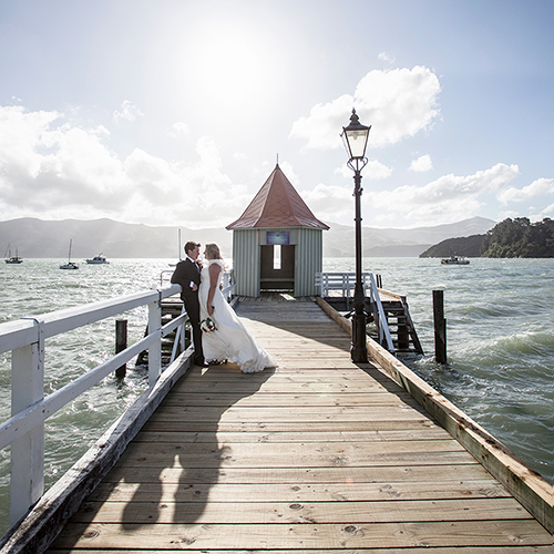 Wedding Photography Akaroa Wharf Nadine Cagney Thumb