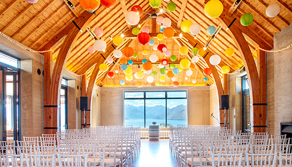 Weddings at The Rippon Hall Wanaka