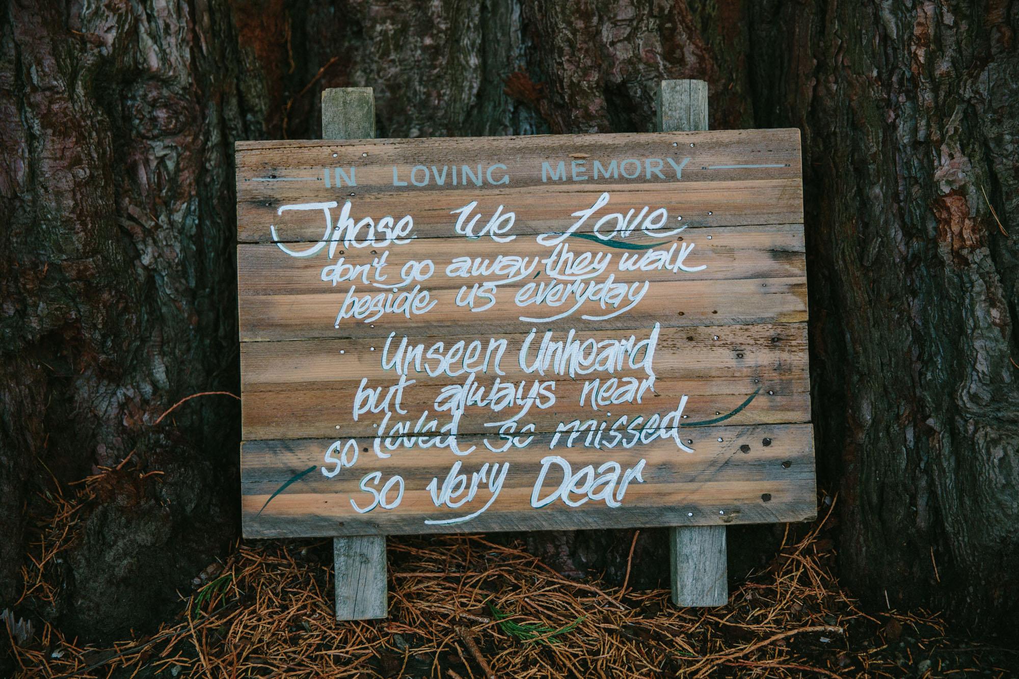 wedding signs wanaka
