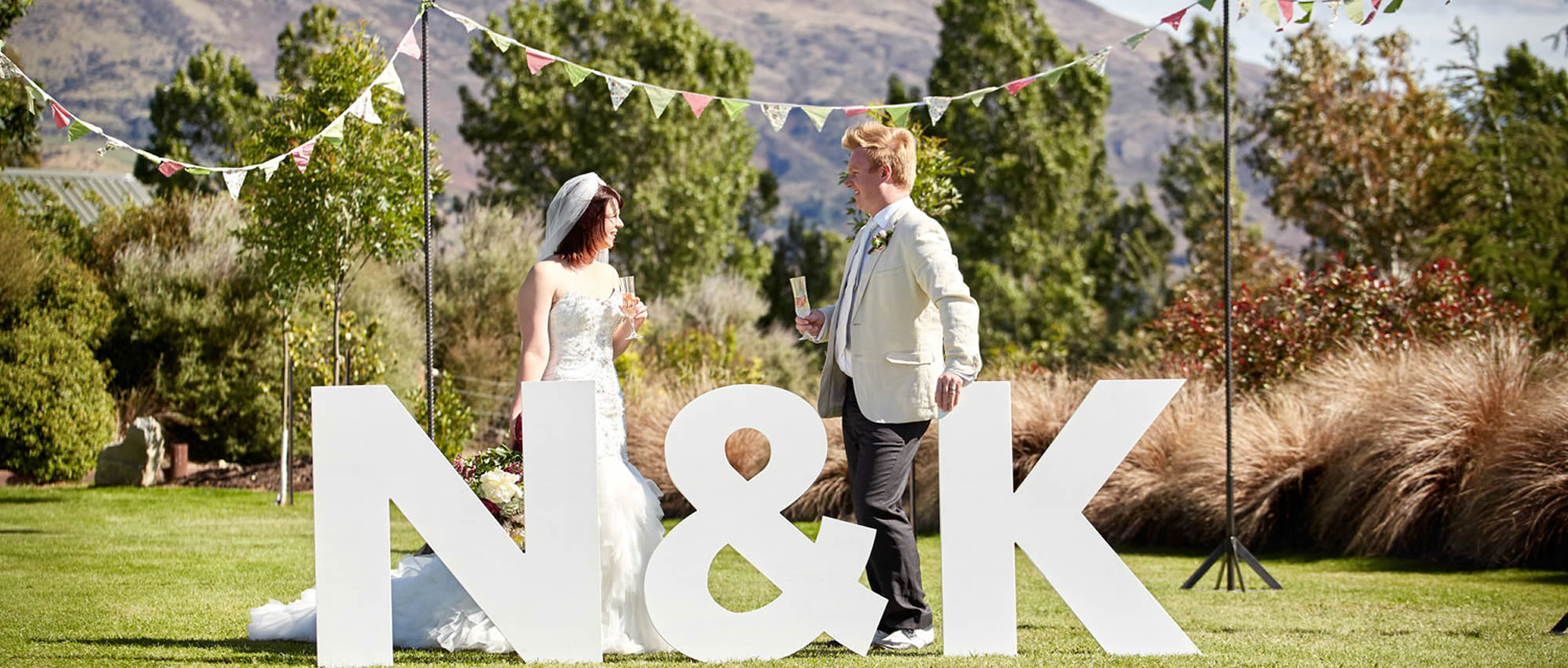 Wanaka Wedding Hire - Giant Letters