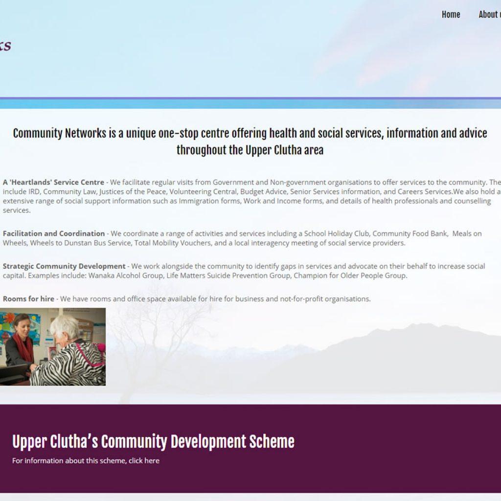 Community Networks Website Wanaka